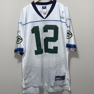 Aaron Rodgers #12 Packers Super Bowl XLV Jersey